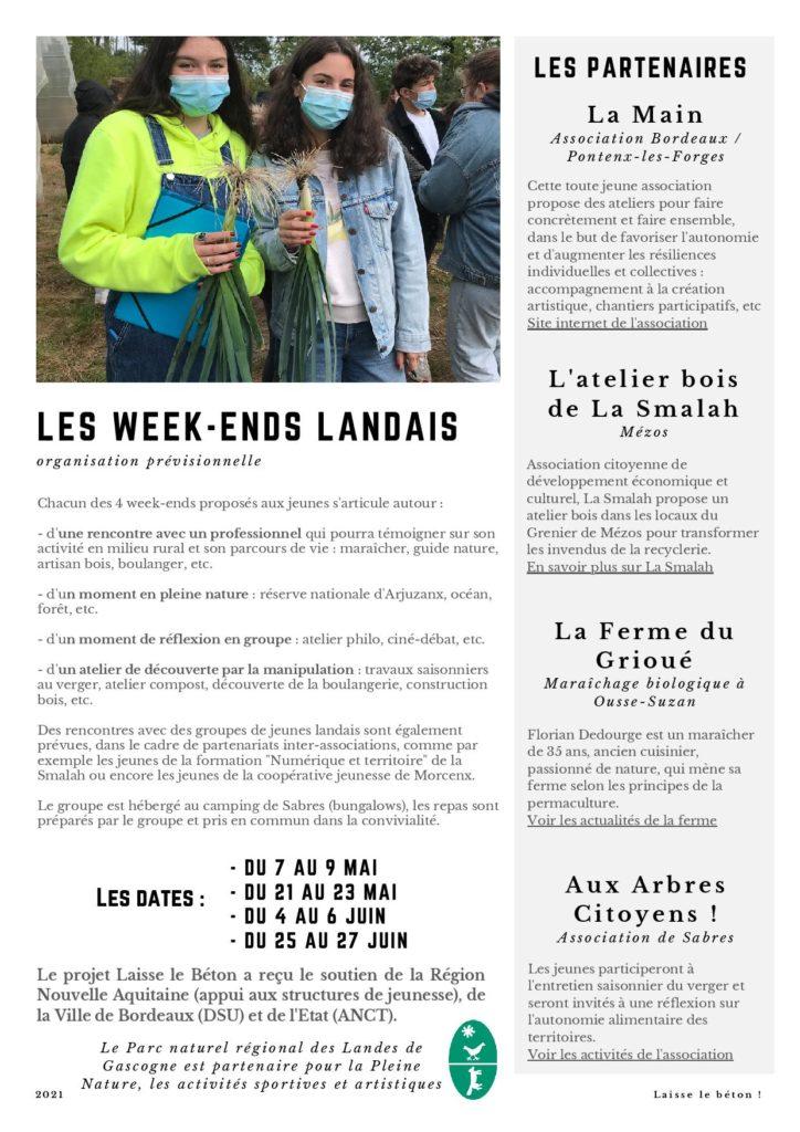 Laisse le béton ! 4 week-end dans les Landes pour les jeunes bordelais, gratuit